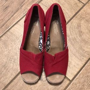 a25240f902f Women s Red Rope Toms Shoes on Poshmark